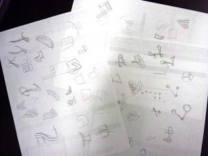 デザイン手書きラフ