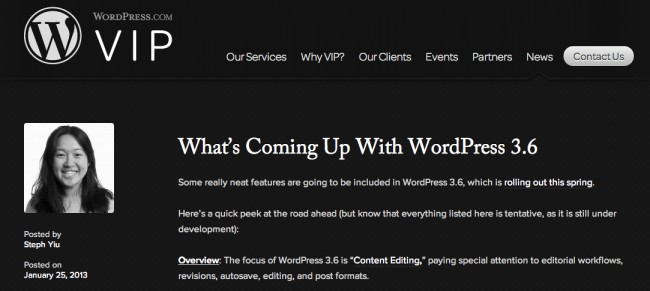 WordPress.com VIP ブログ