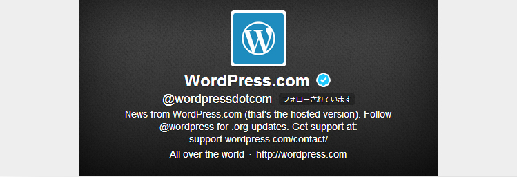 WordPress.com @wordpressdotcom