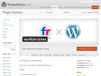 wp-flickr-press