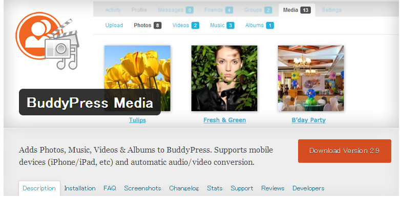 BuddyPress Media