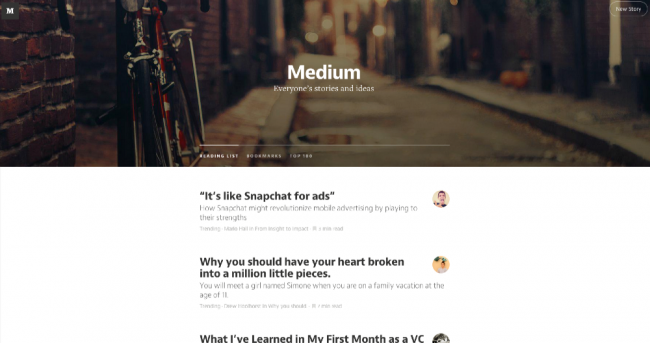 Medium のデザインは読みやすくて美しい。
