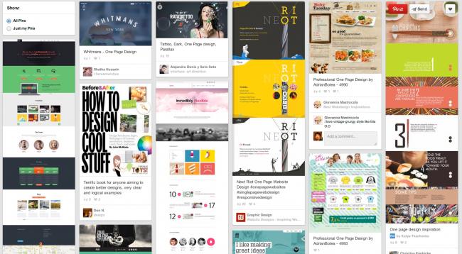 Pinterest で One Page Design を検索した結果
